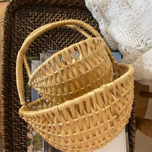 PAIR (2) semi-circle basket